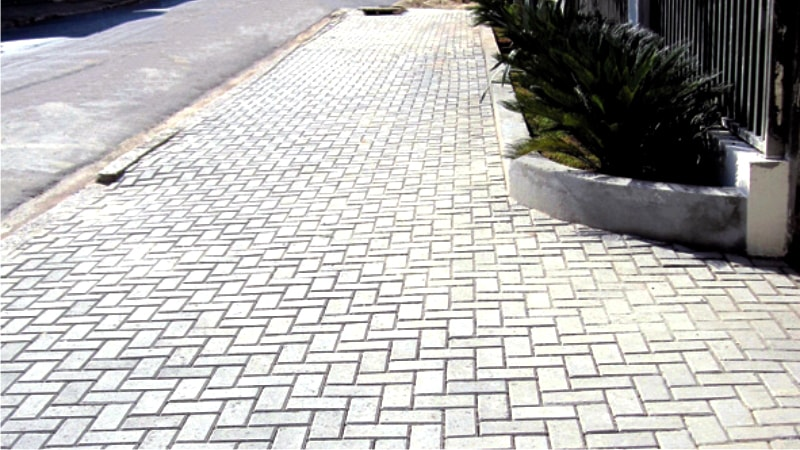 Calçada no Centro da Cidade